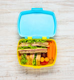 Lunch Box with Food Stock Photography