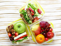 Lunch box for healthy eating. At the office and school Stock Photography