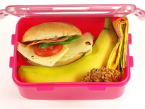 Lunch box, isolated Royalty Free Stock Image