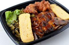 Lunch box with Japanese eel Royalty Free Stock Images