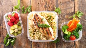 Lunch box. With healthy eating Royalty Free Stock Photo