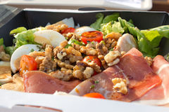 Lunch box salad Royalty Free Stock Photos