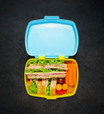 Lunch Box with Sandwich Stock Image
