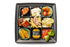 Lunch box with sushi and rolls Royalty Free Stock Image