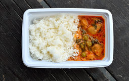 Lunch box , Thailand food Stock Photos
