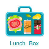 Lunch box vector. Snack pack for student. Royalty Free Stock Image