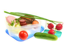 Lunch boxes. Royalty Free Stock Photography