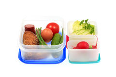 Lunch boxes. Royalty Free Stock Image