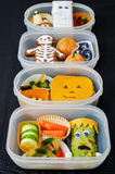 Lunch boxes for Halloween Stock Image