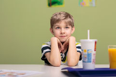 Lunch break in classroom Royalty Free Stock Photos