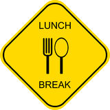 Lunch break - vector sign Stock Photo
