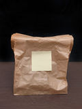 Lunch brown bag Stock Photography