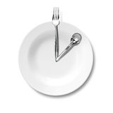 Lunch and business strategy Royalty Free Stock Images