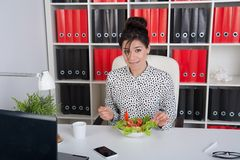 Lunch business woman Stock Photos