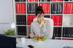 Lunch business woman Royalty Free Stock Photo