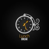 Lunch clock concept design background Stock Photos