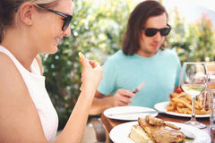 Lunch couple Royalty Free Stock Photography
