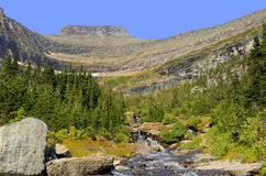 Lunch Creek and Piegan Mountain Glacier National Park Royalty Free Stock Image