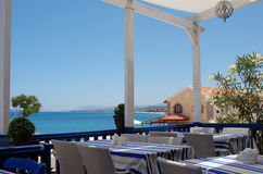 Lunch on Crete Island Stock Image