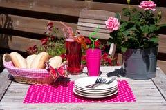 Lunch in de tuin Royalty-vrije Stock Afbeeldingen