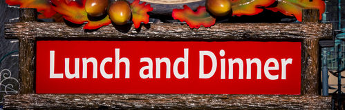 Lunch and dinner sign Royalty Free Stock Image