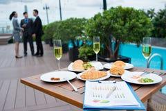 Lunch dla ludzi biznesu Zdjęcia Stock