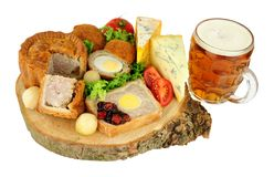 Lunch för buffé för Ploughman` s royaltyfria foton