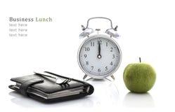 lunch för upplagan för affärskaffekoppen öppnade behändig över Royaltyfria Foton