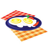 Lunch is fried on a plate Royalty Free Stock Photo