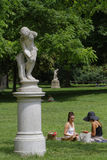 Lunch on grass of the Parc Monceau Royalty Free Stock Photo