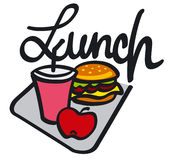 Lunch handwriting. Handwriting graphic symbol of lunch Royalty Free Stock Photos