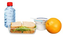 Healthy Lunch Box - Isolated royalty free stock photo