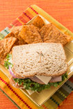 Lunch Healthy Sandwich Ham Turkey Cheese Royalty Free Stock Images