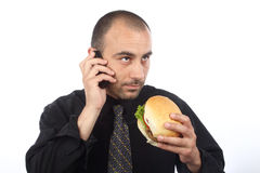 Lunch hour Royalty Free Stock Photography