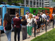 Lunch Hour at Farragut Square Stock Photos