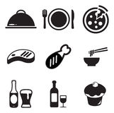 Lunch Icons Stock Images
