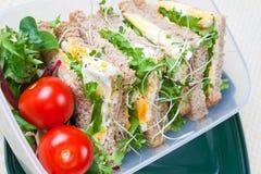 lunch jajeczna zdrowa kanapka Zdjęcia Royalty Free