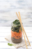 Lunch in a jar Royalty Free Stock Photo