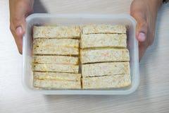 Lunch kanapki w pudełku Obraz Royalty Free
