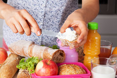 Lunch for kids Royalty Free Stock Images
