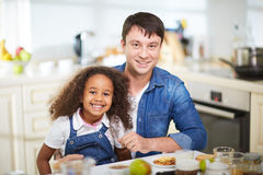 Lunch in the kitchen Royalty Free Stock Photography