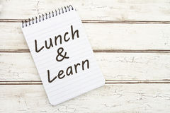 Lunch and Learn stock images