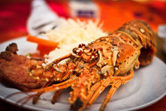 Lunch of lobster stock image