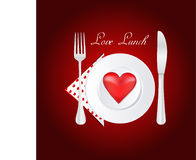Lunch love Stock Image