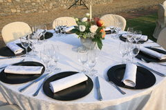 Lunch marriage location laid table Stock Images