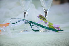 Lunch marriage location laid table Royalty Free Stock Photo