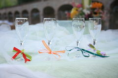 Lunch marriage location laid table Royalty Free Stock Photography