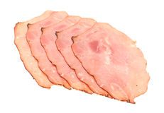 Lunch Meat. Black Forest Ham  isolated on a white background Stock Photography