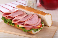 Lunch Meat Sandwich Royalty Free Stock Photo