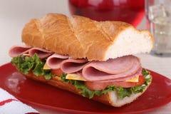 Lunch Meat Sandwich Stock Image